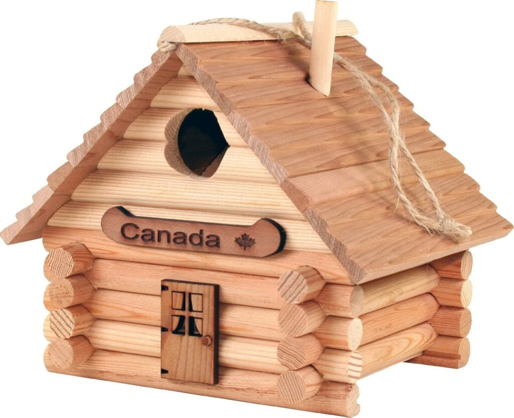 The Log Cabin Canadian Made Birdhouse.
